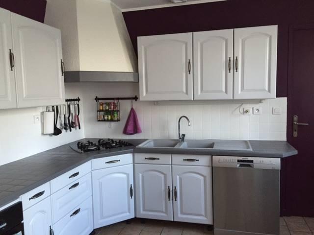 cuisine blanche murs aubergine
